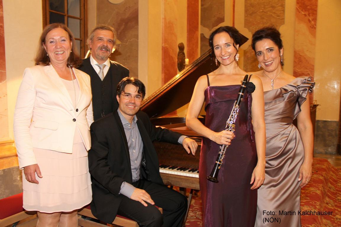 Gerlindse und Ingomar Hofbauer, Michael und Corinna Wasserfaller, Alexandra Reinprecht (von links). Foto: Martin Kalchhauser